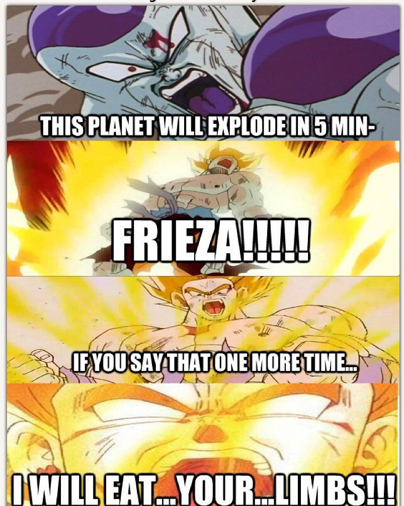 He needs to learn what a minute is lol meme dbz