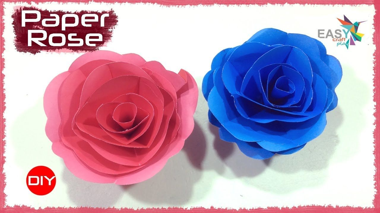 Easy and Simple Paper rose flower | DIY room decor ideas | Easy ...