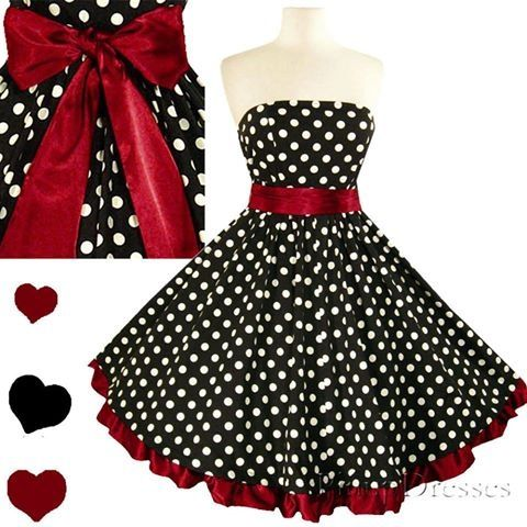 788d8c0dcc Cute dress. Pin up girl type style  ) I think this would make a cute  Bridesmaid dress for a wedding with black and red as the colors.