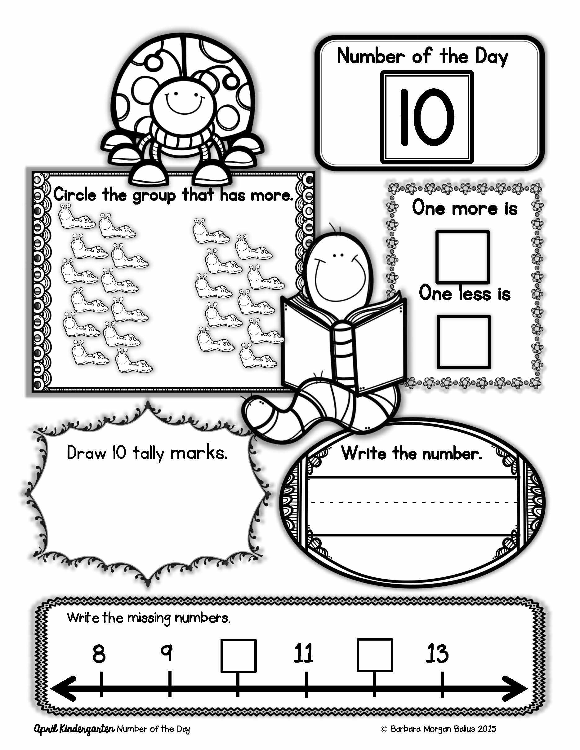Kindergarten Math Number Of The Day Number Sense Morning