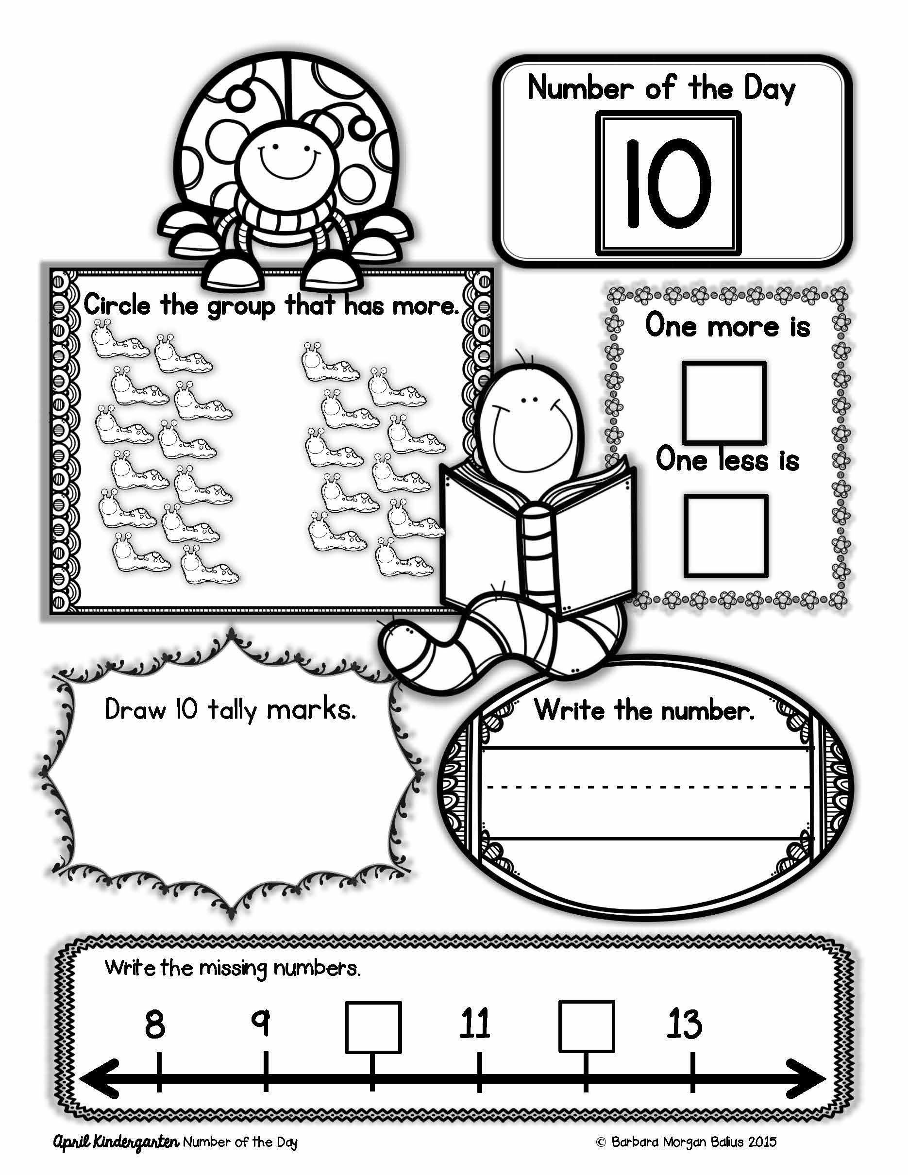 Kindergarten Number Of The Day Great Number Sense Practice Kindergarten Math Numbers Kindergarten Math Review Worksheets Kindergarten Math Worksheets