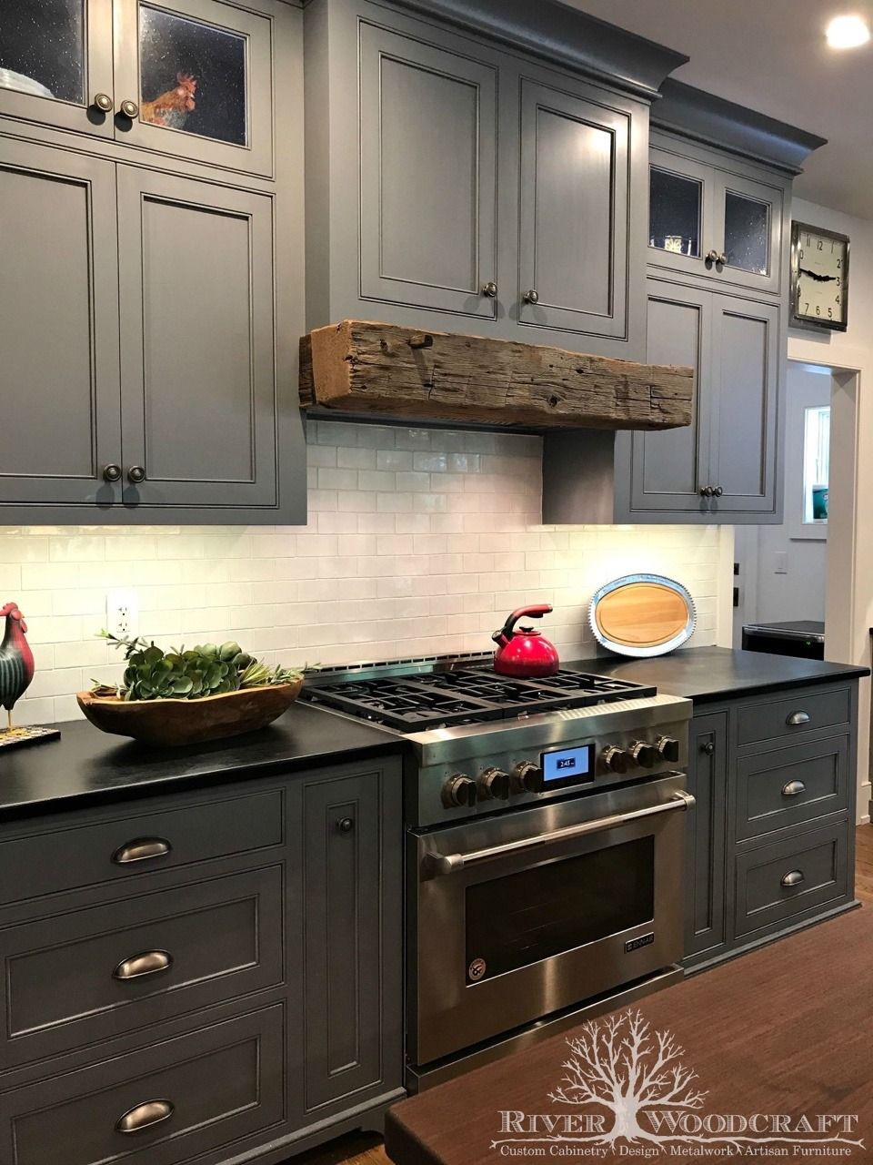 Cottage Life Stained Kitchen Cabinets Kitchen Cabinets Custom Kitchen Cabinets Design