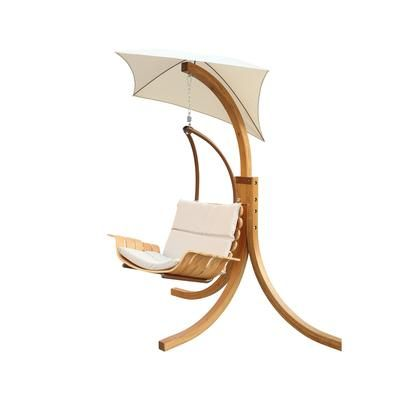 Leisure Season Swing Chair With Umbrella Scu894 Home Depot