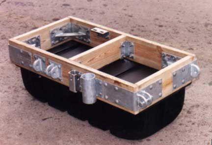 Heavy Duty Wood Dock Hardware is formed from 1/4