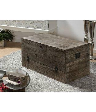 Ba l madera envejecida ba l trunk pinterest baul - Baul madera barato ...