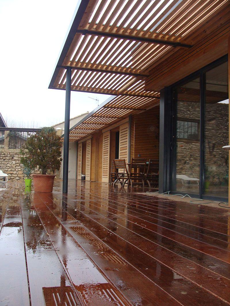 Agreable Terrasse En Bois Pare Soleil Terrasse, Terrasse Bois, Terrasses, Portail  Bois, Brise