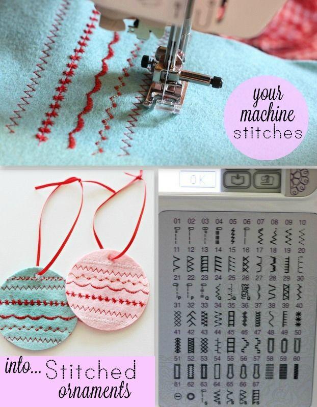 Sewing Machine felt ornament