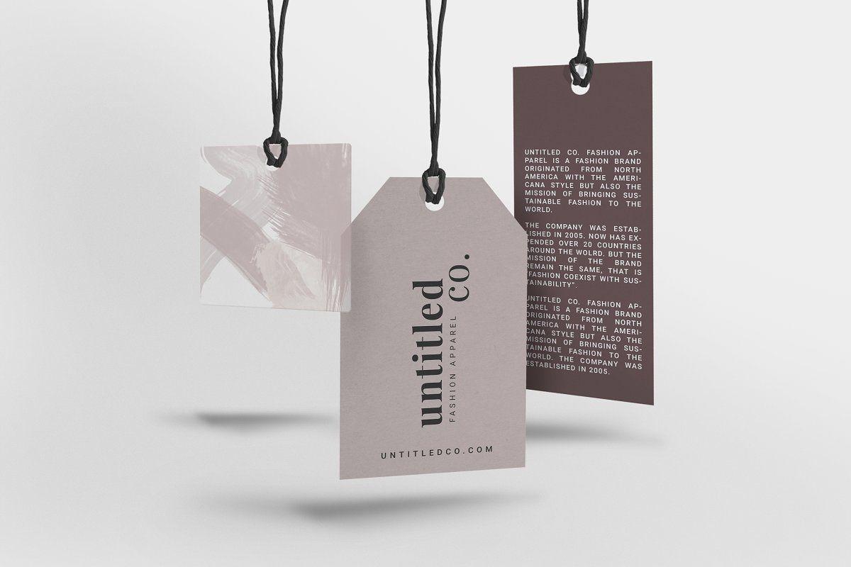Mode Fashion Hang Tag Mock Up Hang Tags Clothing Hang Tags Clothing Labels Design