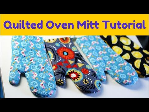 (35) How to Make an Oven Mitt- FREE pattern & Tutorial - YouTube