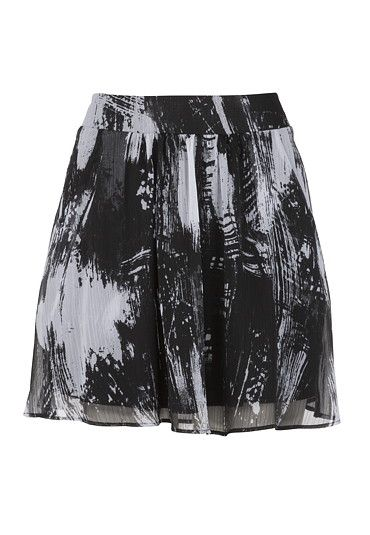 sketch print skirt with pockets $29.00