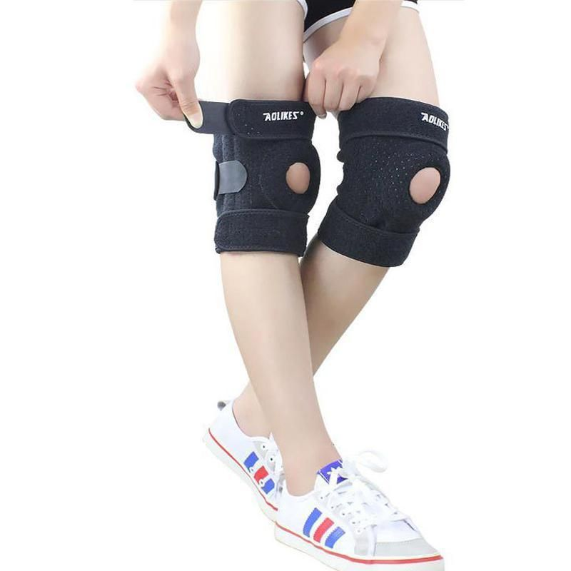 Breathable Knee Pads With 4 Springs Support Gel Brace Protect Adjustable Patella Cycling Running Con Imagenes Ropa De Gimnasia Ciclismo Deportes
