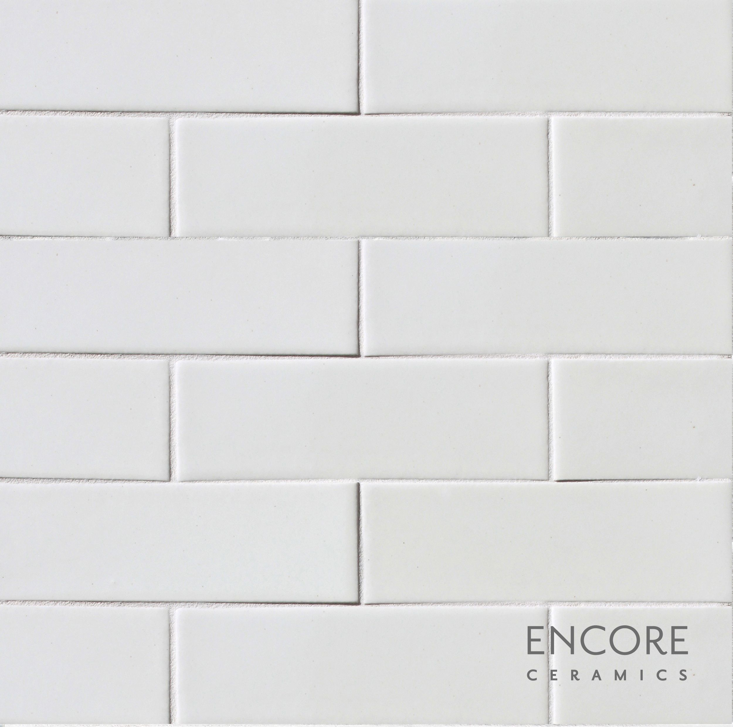 Encore Ceramics 2 X 6 Field Tile Hand Glazed In Milk Gloss Part
