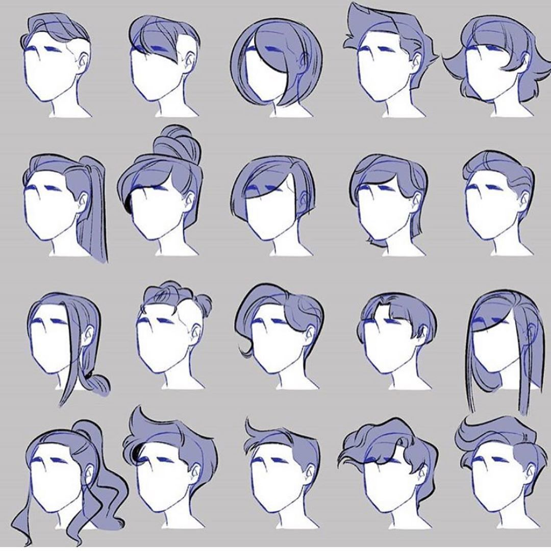 Art Tutorials Memes On Instagram 40 Ideas For Drawing Hairstyles Ayy Artyzzl For More Credit In 2020 Art Reference Poses Art Reference Photos Anime Character Design