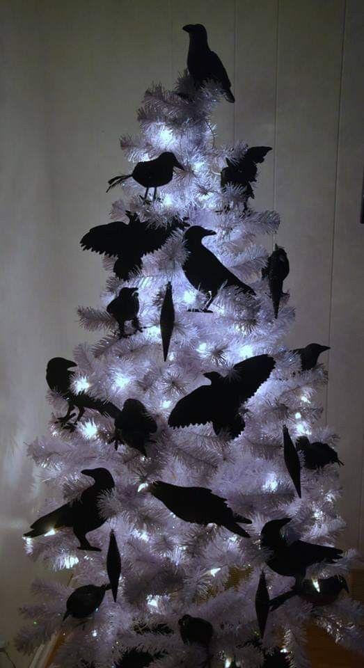 35 Black Christmas Tree Ideas Coz Everything Else Is Just Background Noise Hike N Dip Black Christmas Trees Dark Christmas Christmas Tree Themes