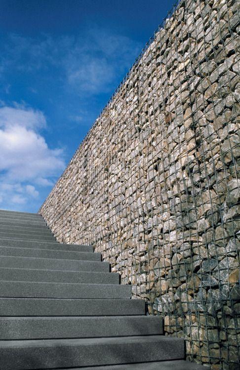 KSK LUXURY Connoisseur gabion wall Muros piedra Pinterest