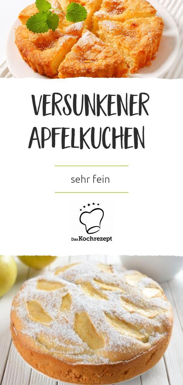 Versunkener Apfelkuchen Sehr Fein Rezept Apfelkuchen Sehr Fein Apfelkuchen Rezept Einfach Und Kuchen