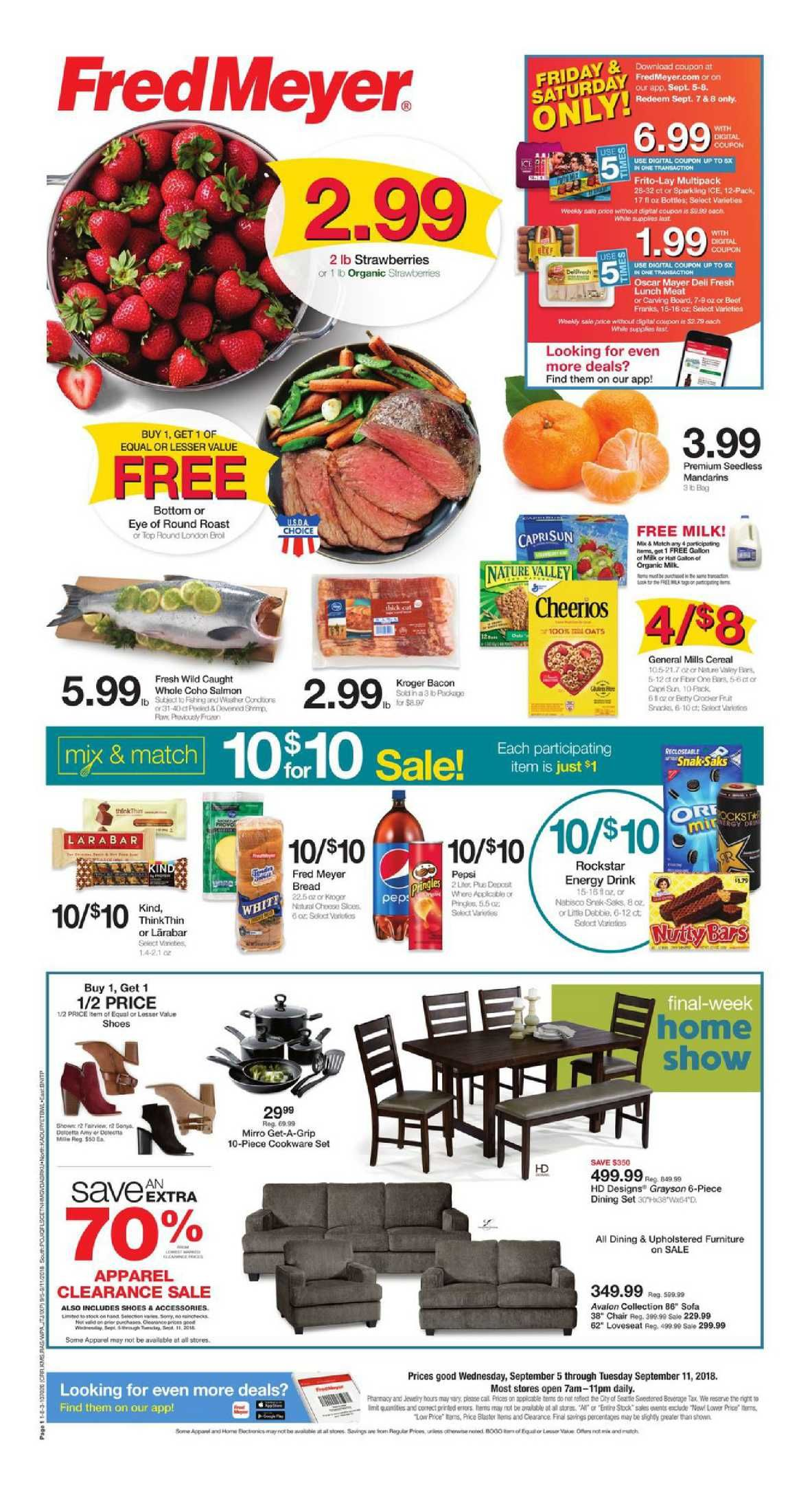 Fred Meyer Weekly Ad Flyer January 16 22 2019 Weekly