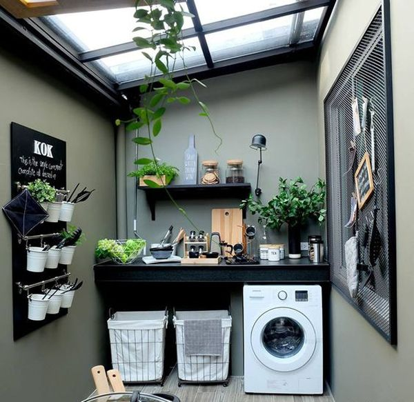 23 Tiny Laundry Room With Nature Touches Home Design And Interior Outdoor Laundry Rooms Stylish Laundry Room Laundry Design