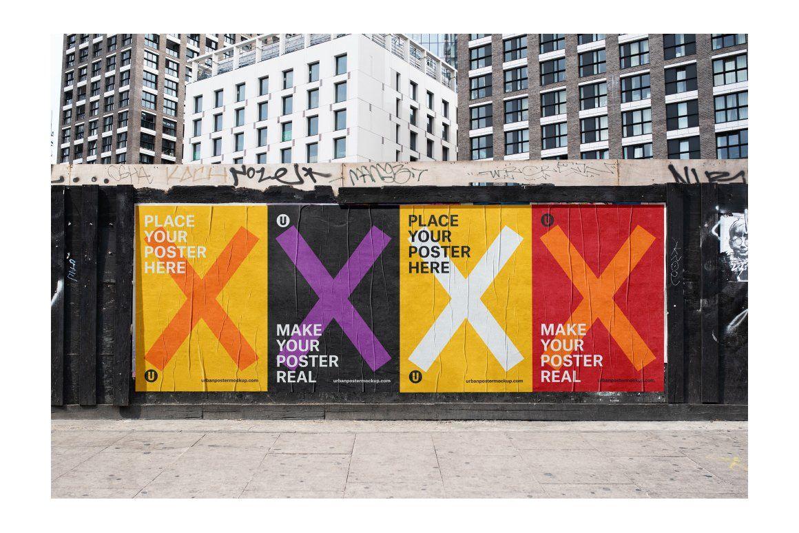 urban poster mockup vol 2 poster