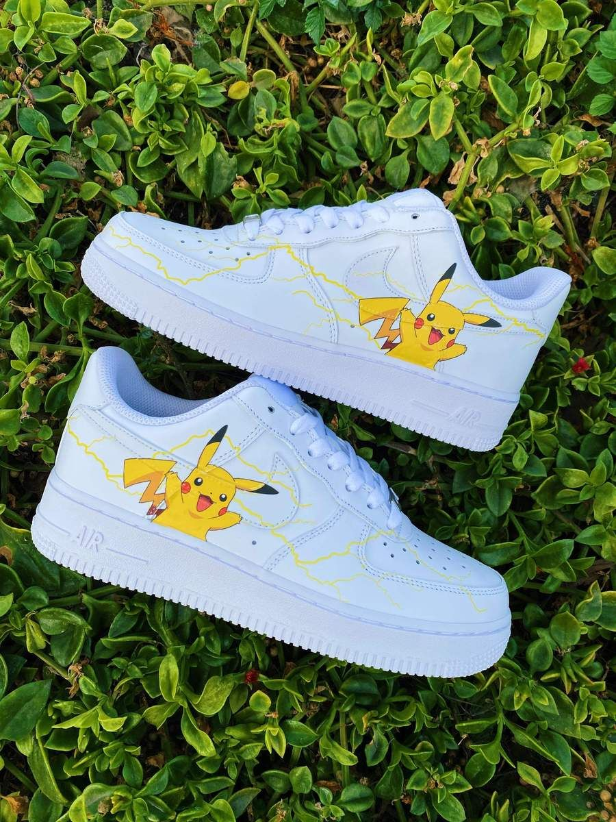 Pikachu Pokemon AF1 in 2020 Custom shoes diy, Custom