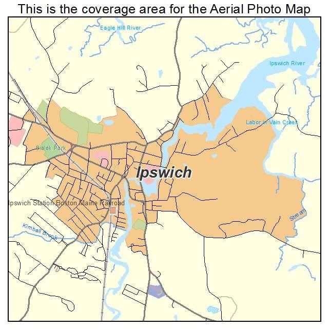 ipswich ma Ipswich MA Massachusetts Aerial Photography Map