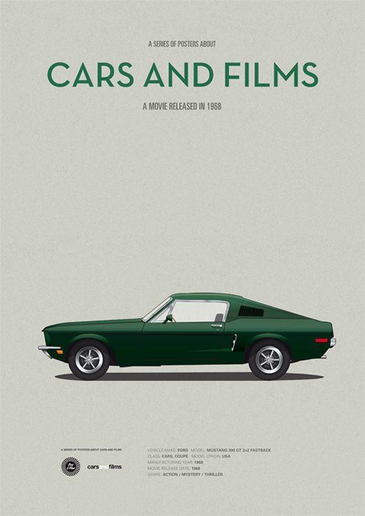 Bullitt 1968 Minimal Movie Poster By Jesus Prudencio Cars