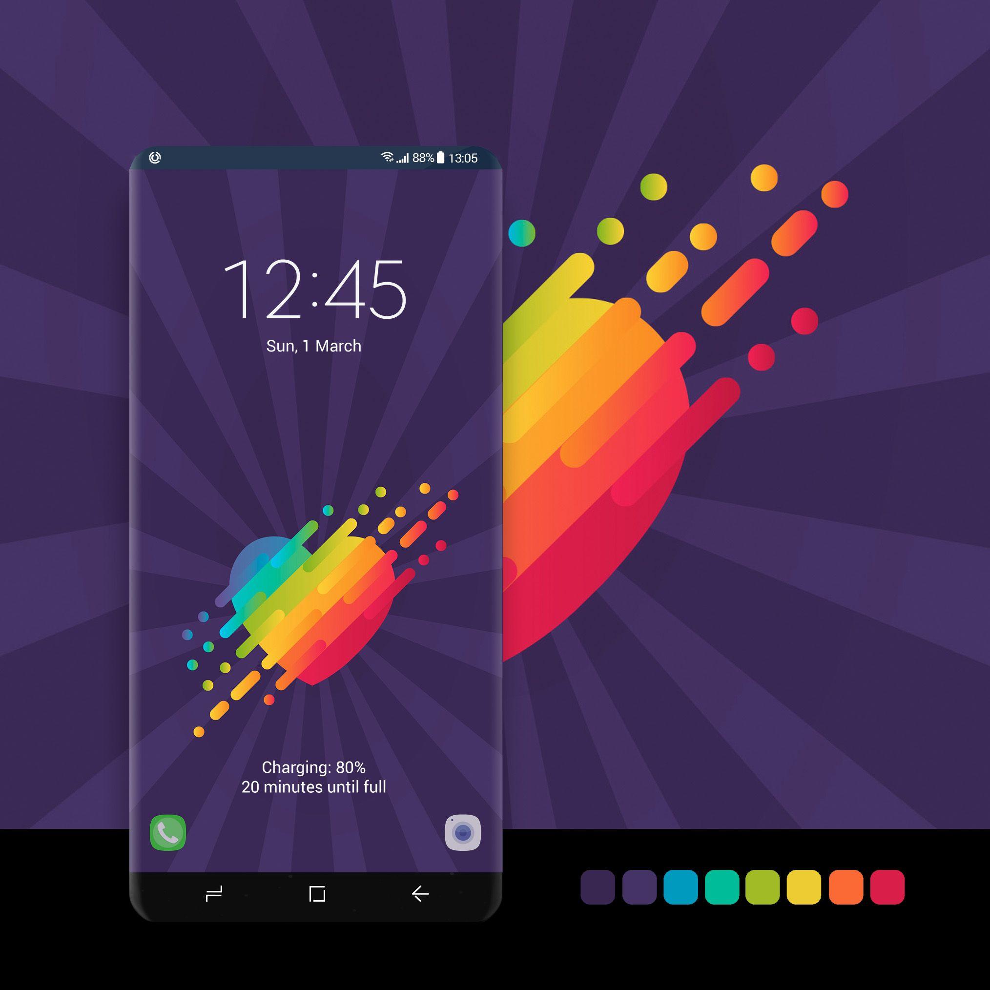 Rainbow Heart On Purple Background Samsung Galaxy Wallpaper Samsung Wallpaper Galaxy Wallpaper