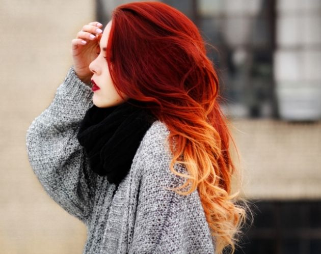 Ombré hair avec cheveux rouges  21 photos absolument hallucinantes ! ,  REVLON PROFESSIONAL Trend Zone