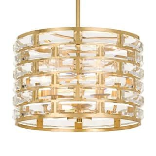 Crystorama meridian collection 5 light antique gold chandelier crystorama meridian collection 5 light antique gold chandelier aloadofball Images