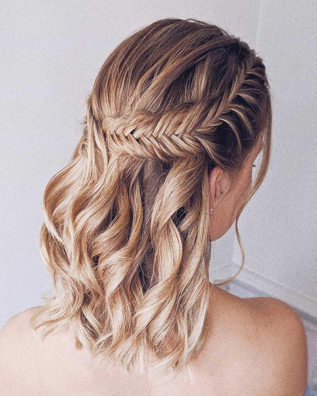 Wedding Hairstyles 2021 Fantastic Hair Ideas In 2020 Bridesmaid Hair Short Hair Styles Down Hairstyles