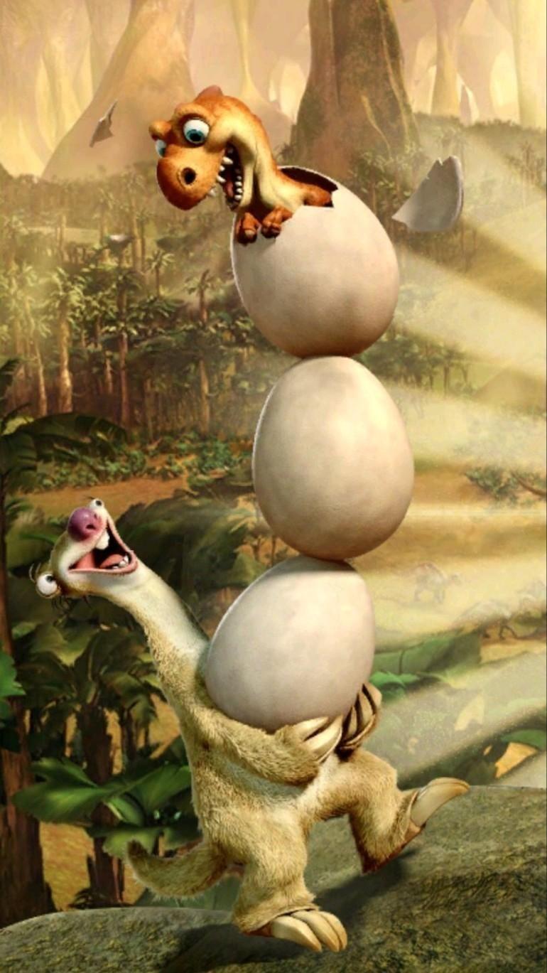 Ice Age animated movie dinosaur funny HD wallpaper