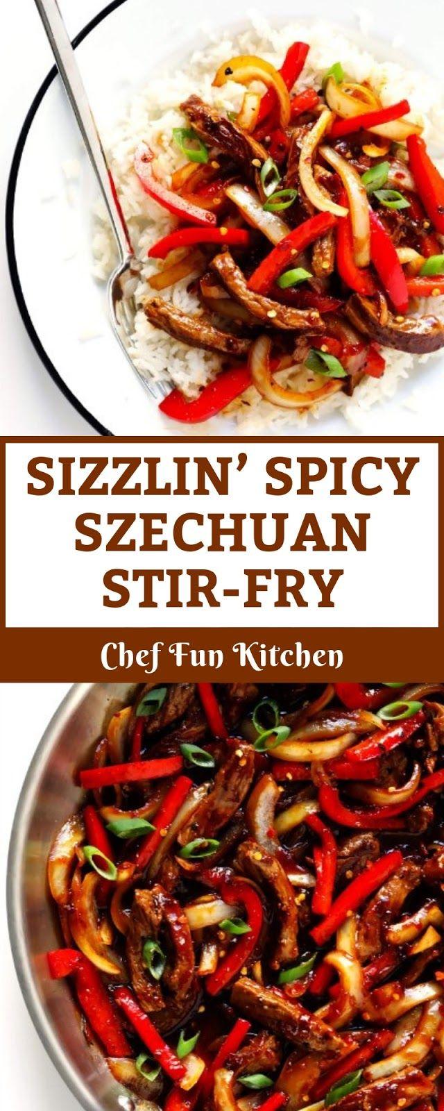 SIZZLIN' SPICY SZECHUAN STIR-FRY #healthystirfry