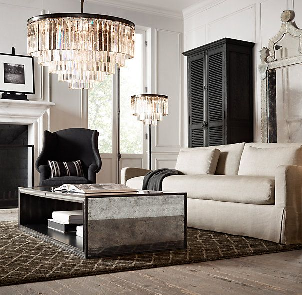 48 Strand Mirrored Coffee Table Restoration Hardware Living