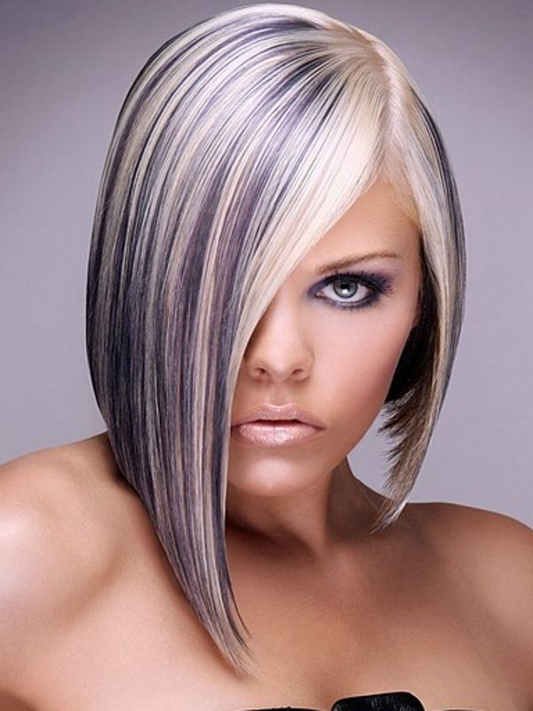 Www Kapsalon2thepoint Nl Hair Nails Make Up Studio 2thepoint Purple Hair Highlights Short Hair Color Purple Highlights Blonde Hair