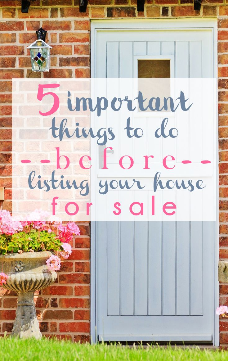 Listing Your Home For Sale: 5 Things to Do First | Money trees ...