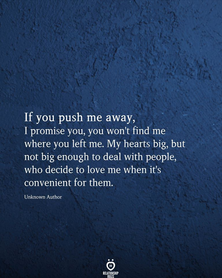 If You Push Me Away, 1 Promise You,