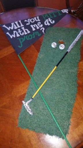 Super Cute Promposal For A Girl Whos Into Golf Promposals  -4592