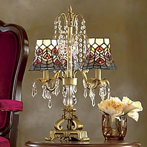 stained glass chandelier table lamp from seventh avenue - Chandelier Table Lamp