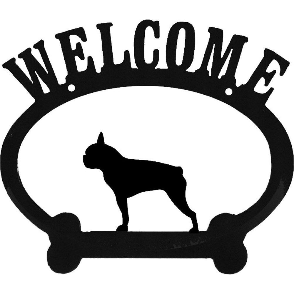 Welcome Sign Boston Terrier See This Great Product This Is An Affiliate Link Petdogs Dog Memorial Dog Signs Welcome Sign [ 1000 x 1000 Pixel ]