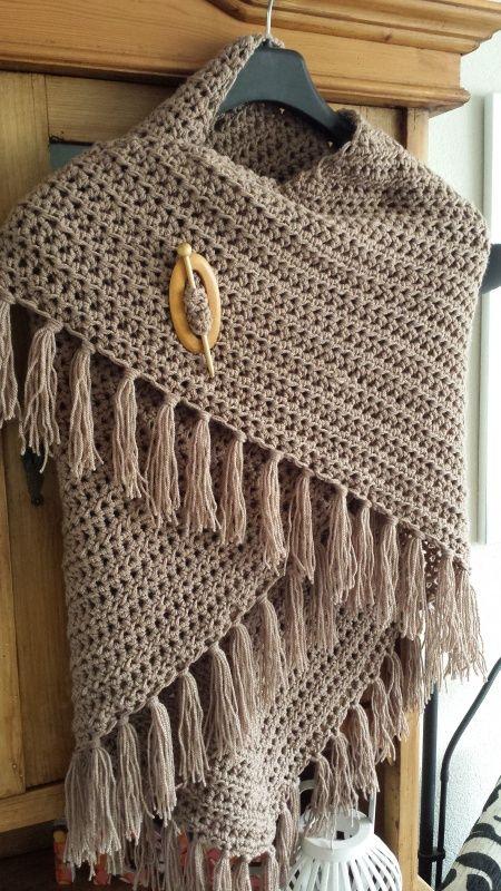 Gratis Patroon Poncho Haken Google Zoeken Crochet Scarfs