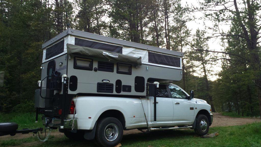 In The Spotlight 2016 Bunducamp Pop Up Camper Truck Camper Adventure In 2020 Pop Up Truck Campers Slide In Truck Campers Truck Camper