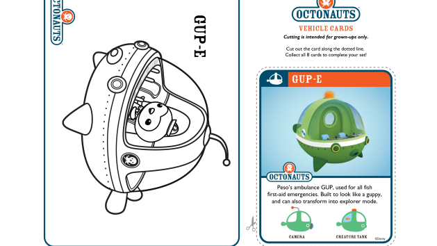 octonauts gup x coloring pages - photo#9