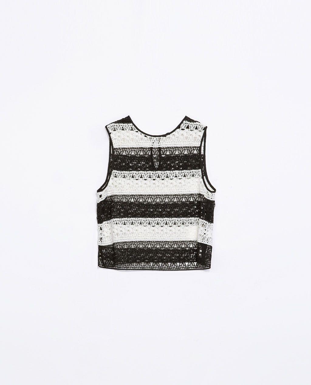 #TOP #GUIPUR #RAYAS #BICOLOR @· ZARA · 29.95€ #moda #primavera #tendencia