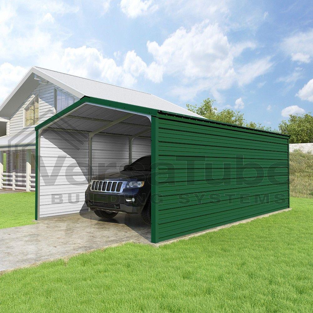 Grand Carport 3 Sided 12 X 20 X 7 Carport Or Shelter Building Kits Carport Building Outdoor Decor