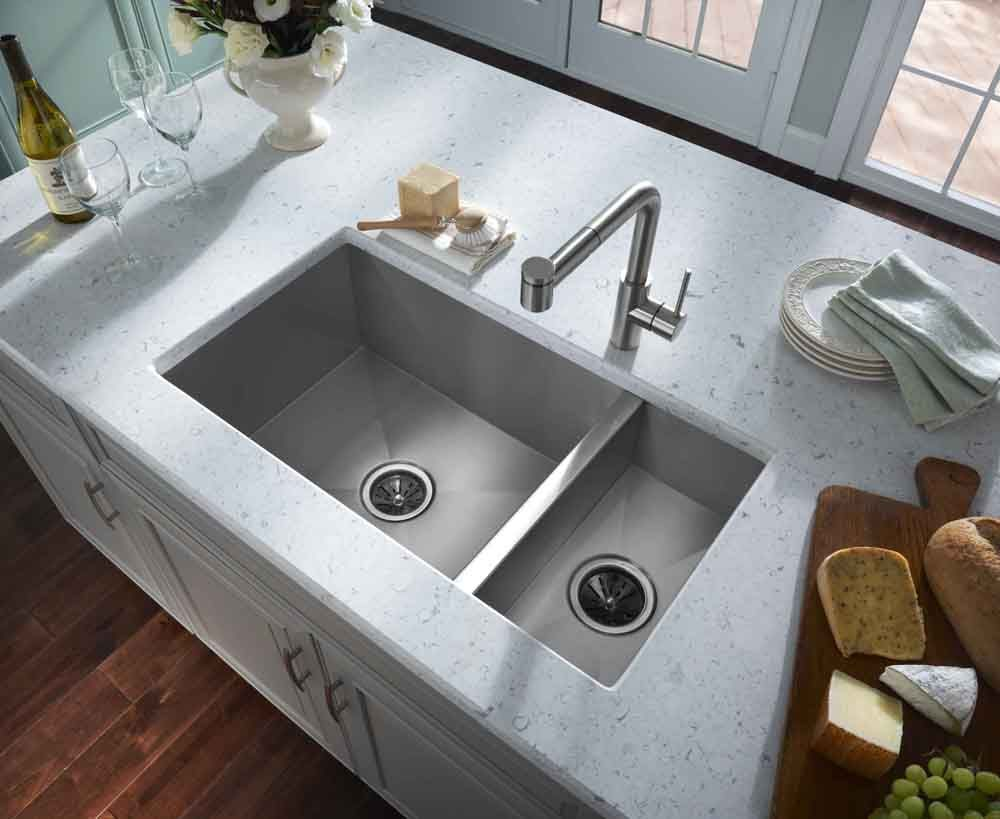 20 Gorgeous Kitchen Sink Ideas Kitchens Double Bowl Kitchen Sink