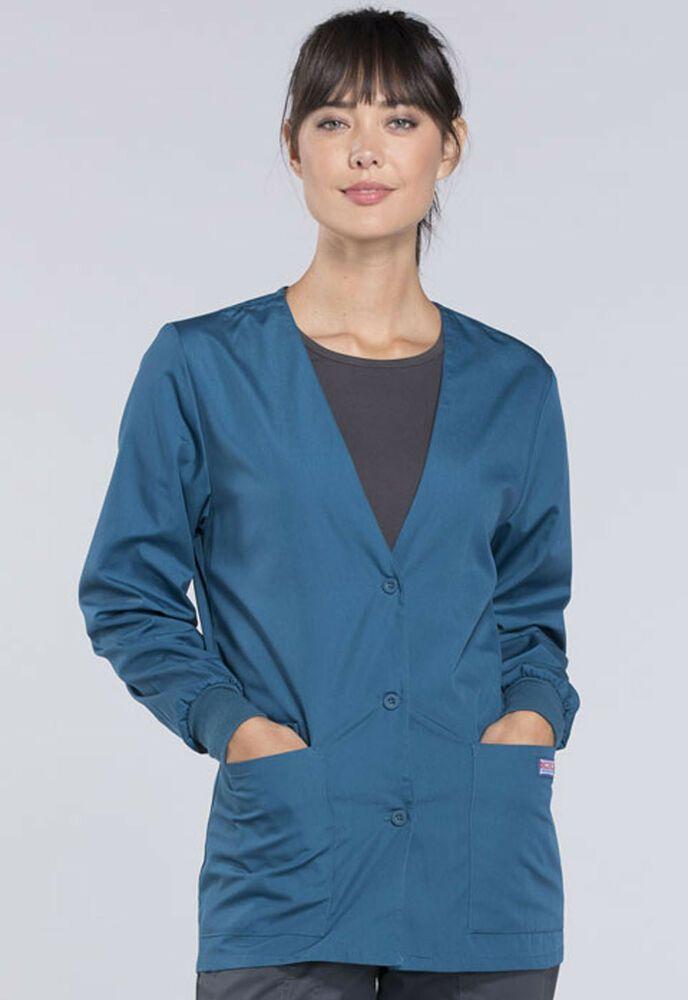 1fcc7bb1bd1 eBay #Sponsored NWT 5XLarge Orchid Cherokee Scrubs Workwear Cardigan Jacket  4301 CARW