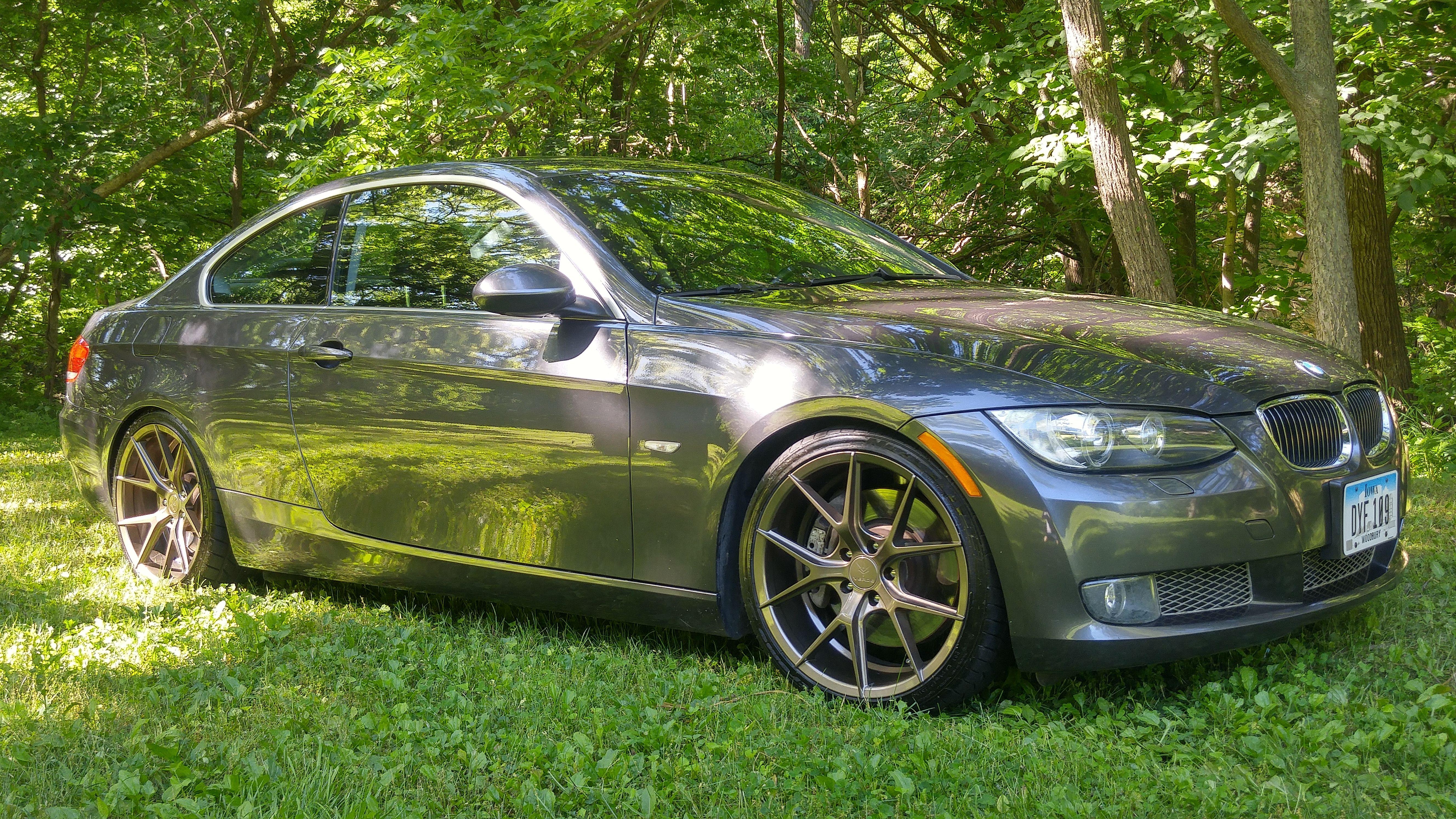 """2008 BMW 335xi 19"""" Verde Axis Wheels Bronze 19x8 5 235 35 19 front"""