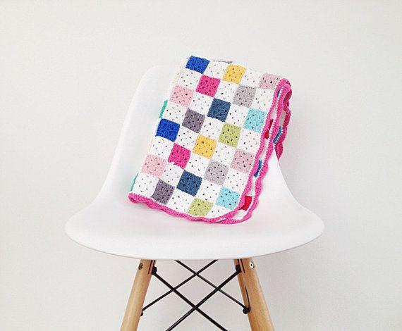 Crochet Granny Square Blanket Pattern Instant Download Square