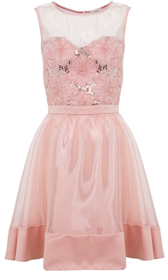 Miss Selfridge Nude Flower Dress. | Dresses | Pinterest