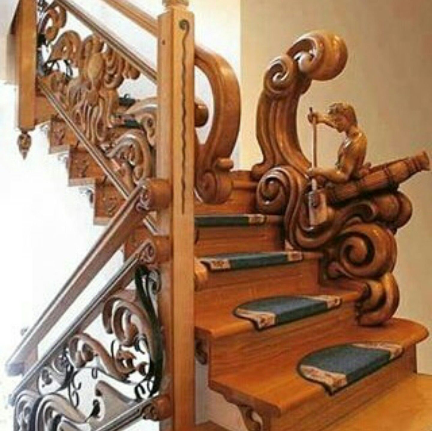 William S Woodworks Wood Stairs: Pin By Patricia Howell On Staircase & Stairsteps